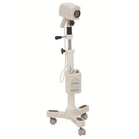 Colposcopio-Binocular-Simples-com-Base-de-Chao-de-3-Rodizios-PE7000ZR